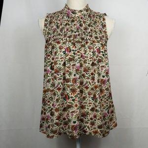 Maeve Floral Sleeveless Blouse Size 6